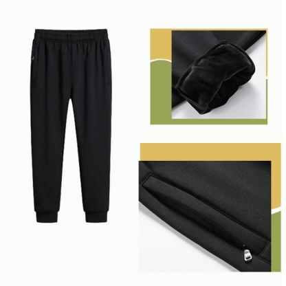 Мужской теплый трикотажный спортивный костюм ArtX #317-2 черный