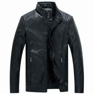 Куртка мужская ArtX #603-1 черная экокожа