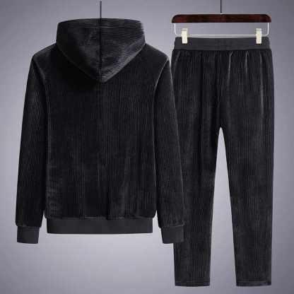 Вельветовый спортивный костюм ArtX #319-1 черный