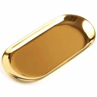 Тарелки из нержавейки с титановым покрытием ArtX #405 золотая