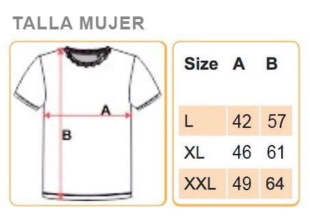 talla camiseta mujer