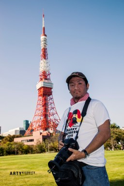 Kaz in front of the tower