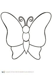 Butterfly Outline Arty Crafty Kids