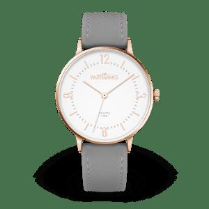 Les partisanes Colette blanc bracelet cuir gris