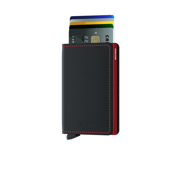 Secrid Slimwallet Matte Black Red