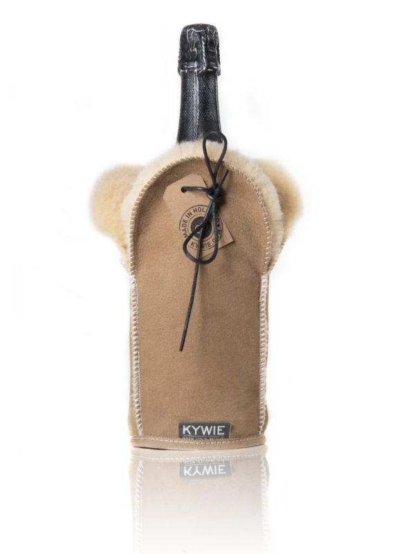 KYWIE champagne cooler camel suede C01SU