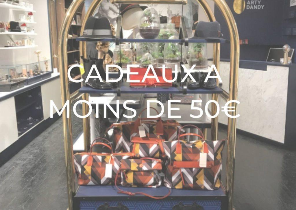 CADEAUX A MOINS DE 50€ ARTY DANDY