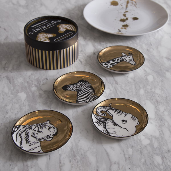 jonathan-adler-set-4-sous-verres-coasters-porcelaine-animal-artydandy