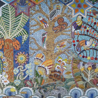 Hugh Myddleton Primary school mosaics