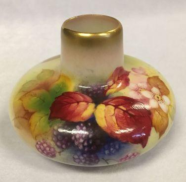 Vintage Royal Worcester Signed Kitty Blake Squat Vase Circa 1938