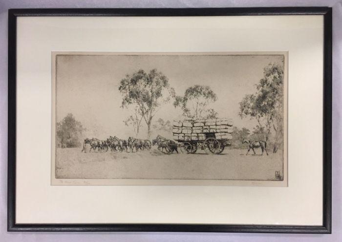 ernest-warner-australian-1879-1968-the-wool-team-etching-1