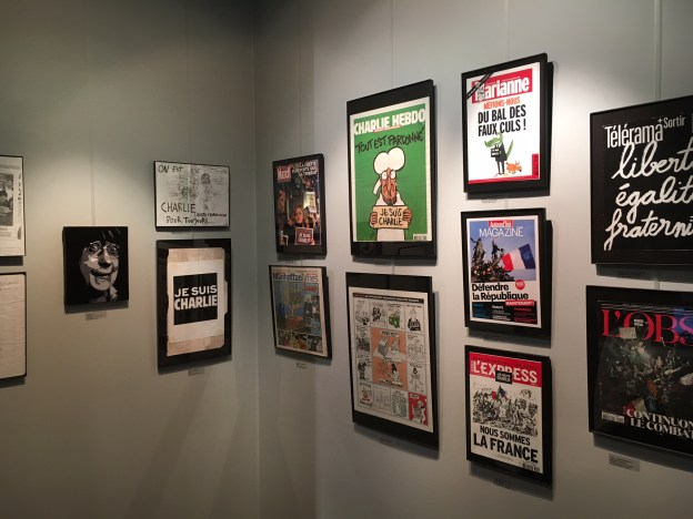 cabu, jesuischarlie, charlie archive exhibition, french cultural center, boston, harvard