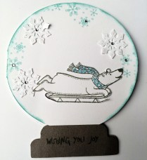 Polar Bear Sleighing Joy - Polar Bear Holiday