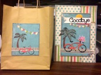 Artfully Sent Bike Gift Bag & Matching Goodbye Card