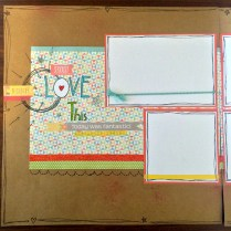Love This CTMH Zoe Scrapbook 6 photo Layout Title page