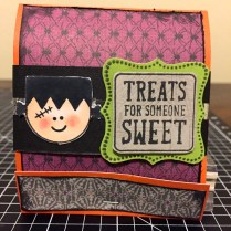 CTMH Nevermore Paper Pack & Trick or Treat Sweets Halloween Matchbook Treat Holder featuring the Monster