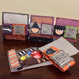 CTMH Nevermore Paper Pack & Trick or Treat Sweets Halloween Matchbook Treat Holder