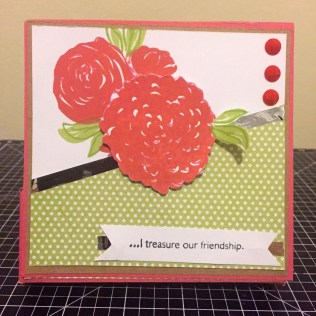 Blossoming Expressions Note Card holder: The cover.
