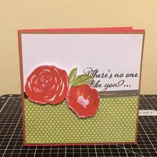 Blossoming Expressions Note Card holder: There's no one like you note card