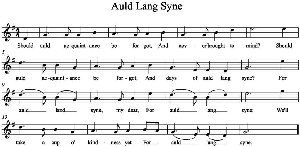 Arty News » Auld Lang Syne