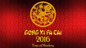 Happy Chinese New Year of the Monkey in 2016!