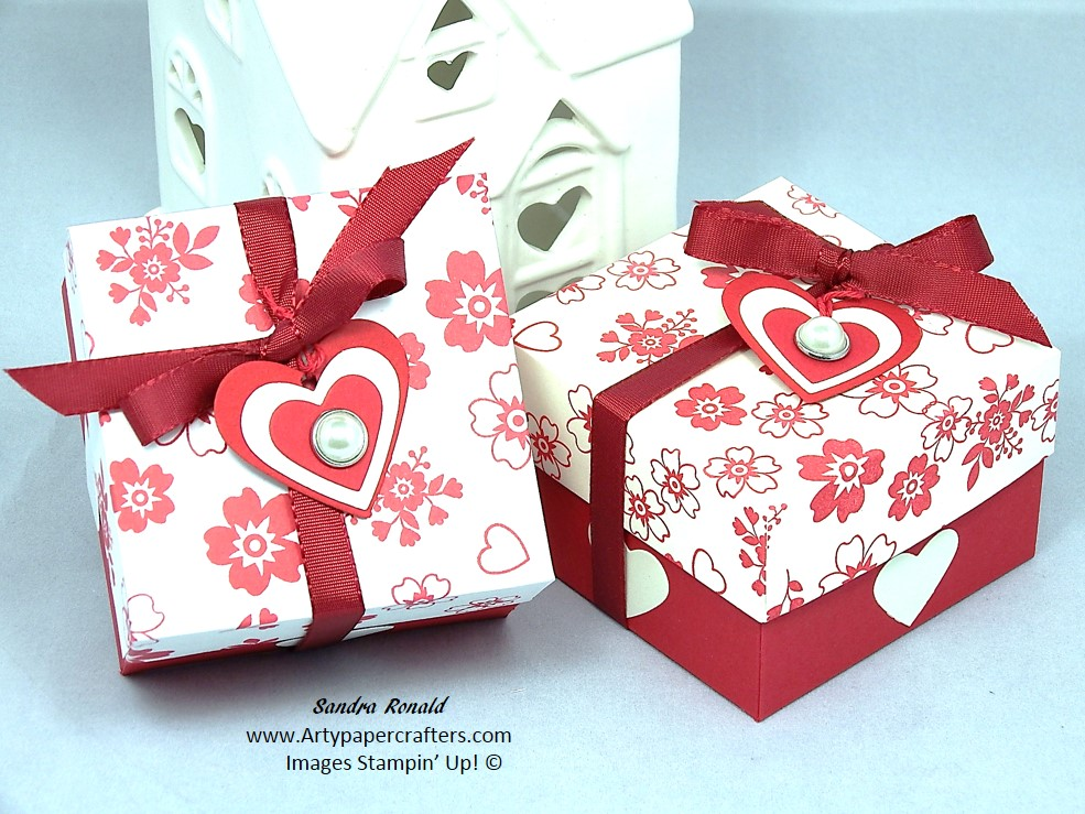 Stampin Up Valentine Gift Box Arty Paper Crafters