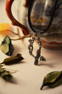 Armenian Handmade Silver Pendant Letter K on jar
