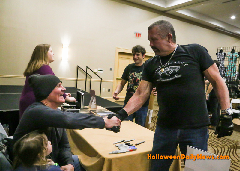 James Jude Courtney meeting Kane Hodder for the first time