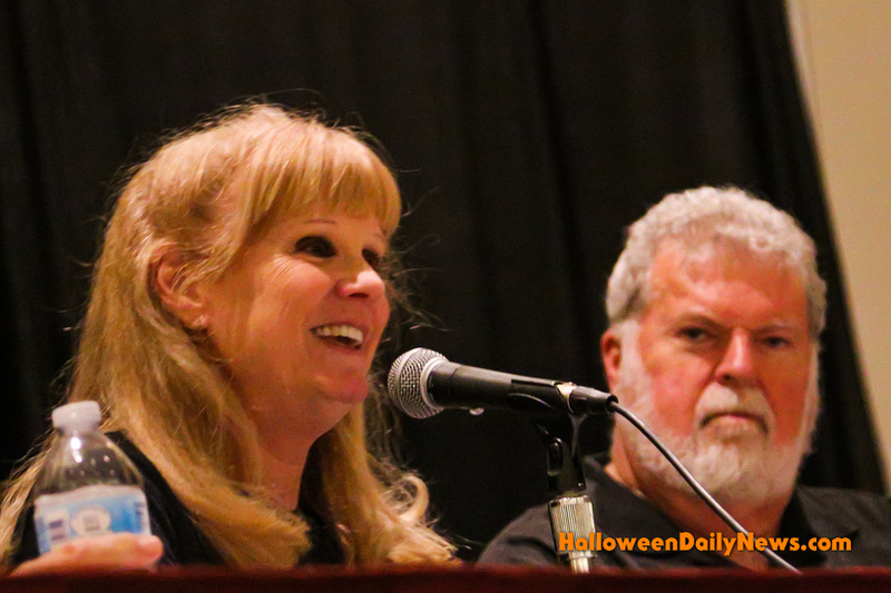 P.J. Soles and Dean Cundey