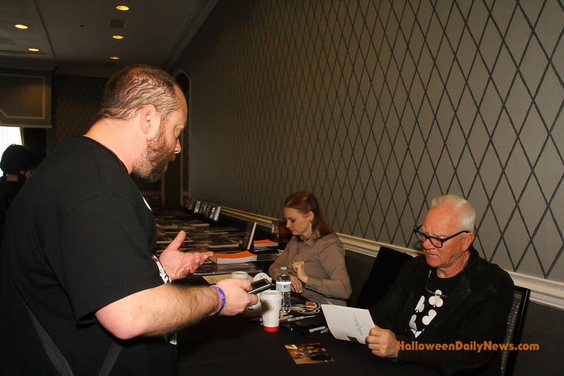 HDN's Matt Artz interviewing Malcolm McDowell