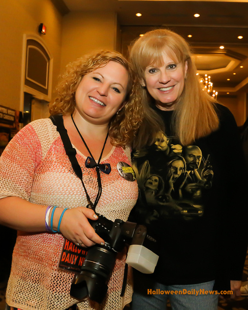HDN's Sue Artz with P.J. Soles