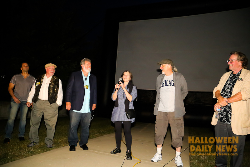 Will Sandin, Charles Cyphers, Dean Cundey, Nancy (Loomis) Kyes, Nick Castle, and Tommy Lee Wallace