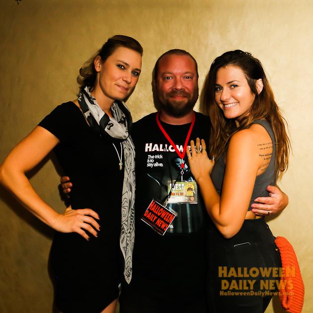 Kristina Klebe and Scout Taylor-Compton with HDN's Matt Artz