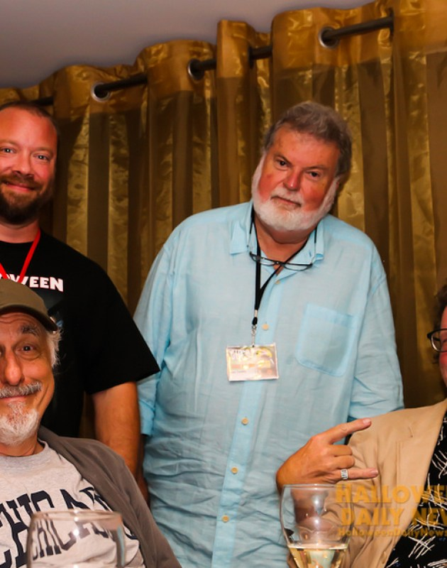 HDN's Matt Artz with Nick Castle, Dean Cundey, and Tommy Lee Wallace