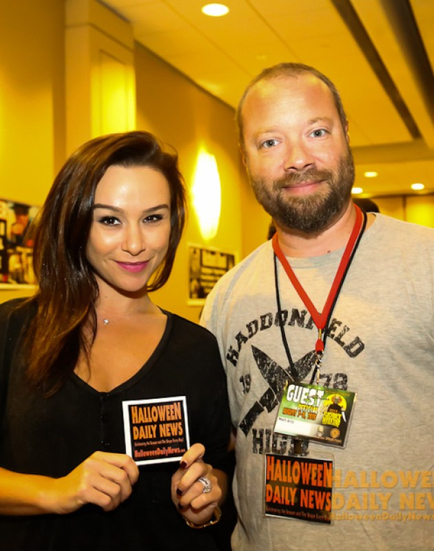 Danielle Harris with HDN's Matt Artz