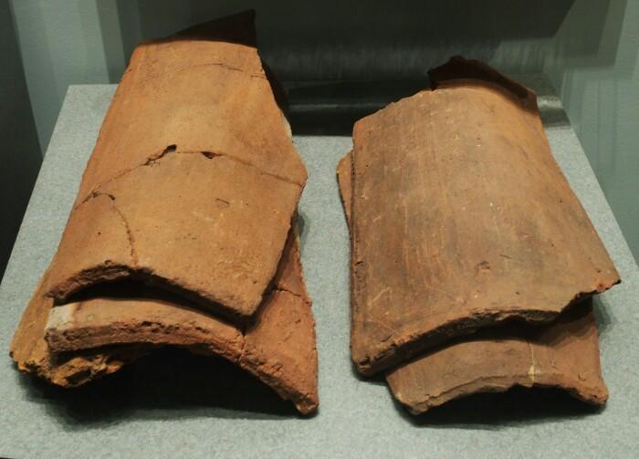 Red Bayn aurkitutako teilak, St. John's-eko museoan.