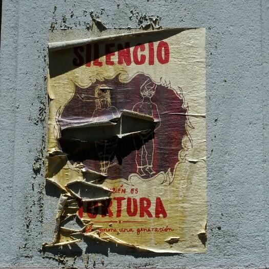 Silencio también es tortura. Santiago, Txile.