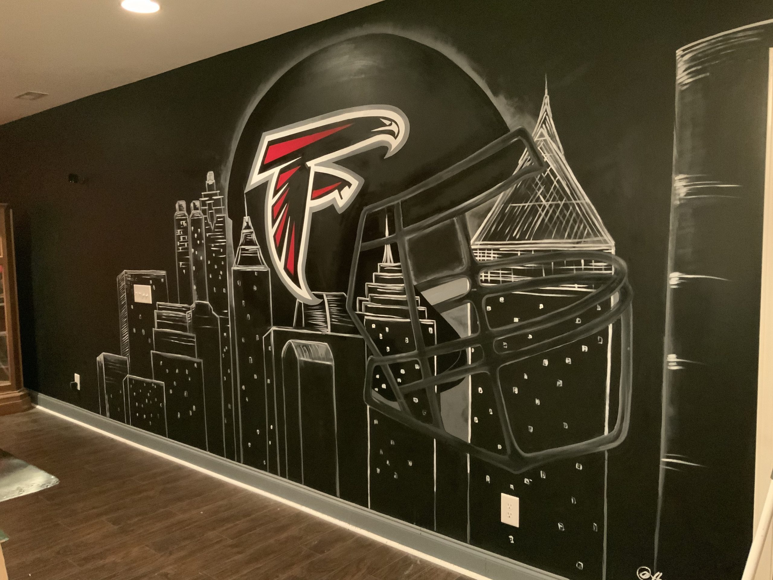 Private Client Home: Falcons Helmet