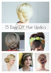 easy diy hair updo's