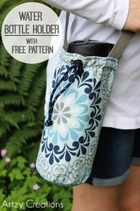 Water Bottle Holder with Free Pattern - artzycreations.com