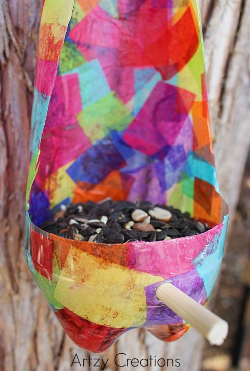 Recycled-Bird-Feeder-For-Kids-Artzy Creations 7