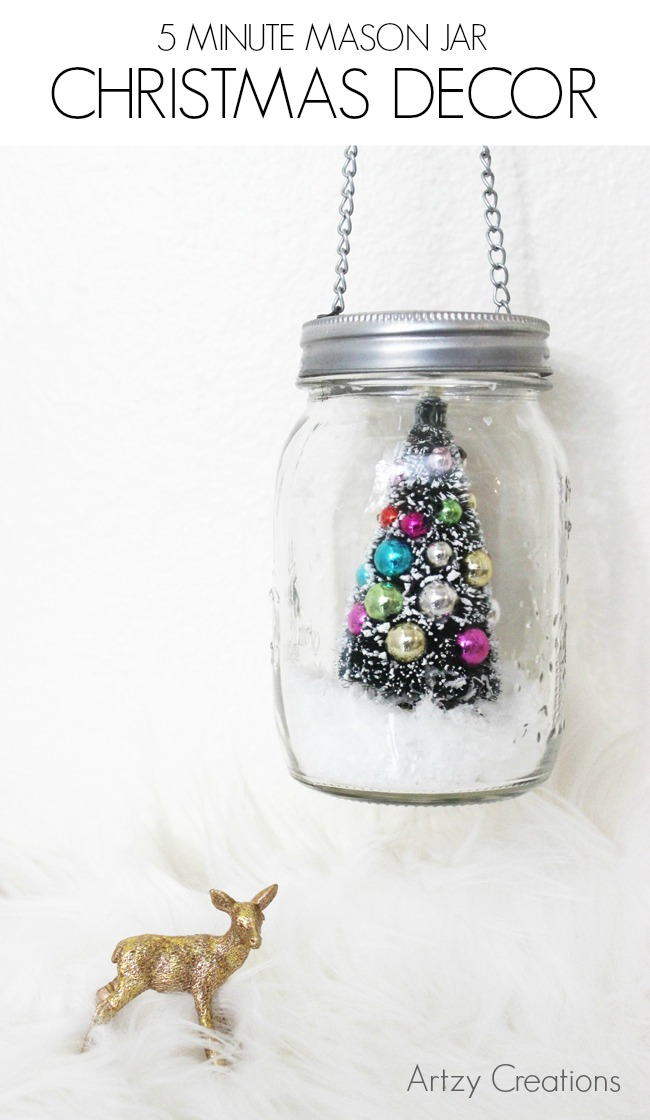 5 Minute Mason Jar Christmas Decor