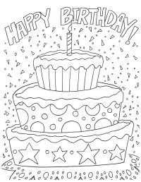 Free Happy Birthday Coloring Page and Hershey ...