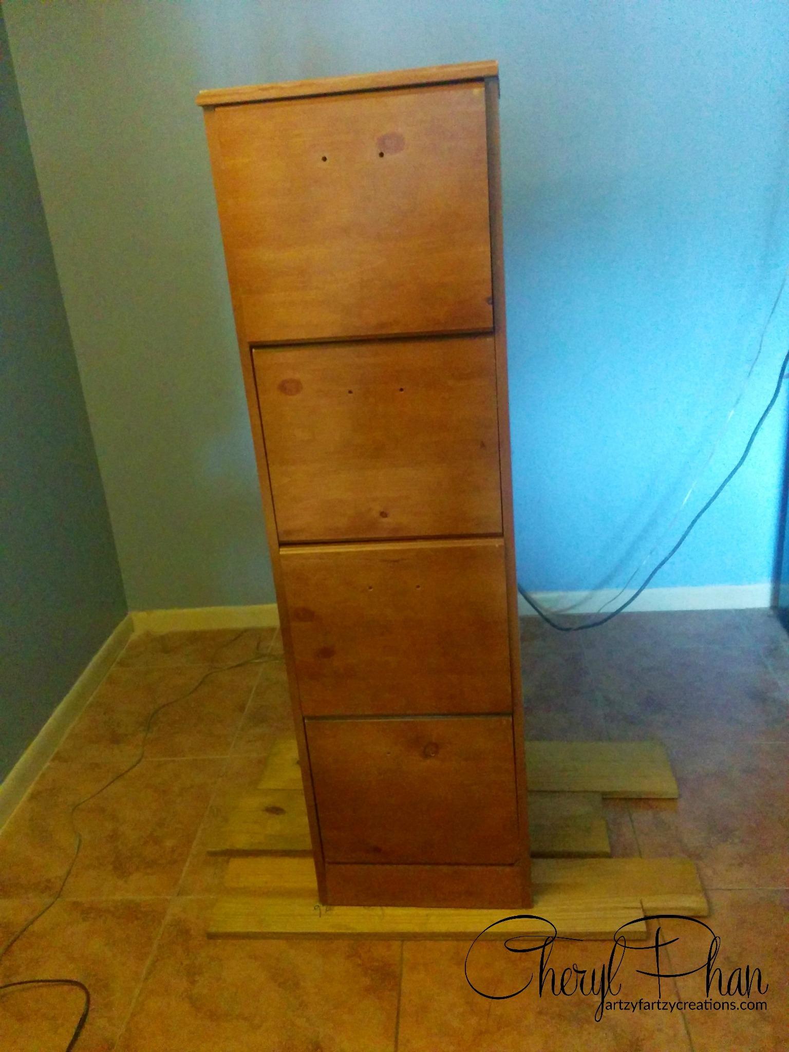 Repurposed Filing Cabinet  Faux Finish  Decorative