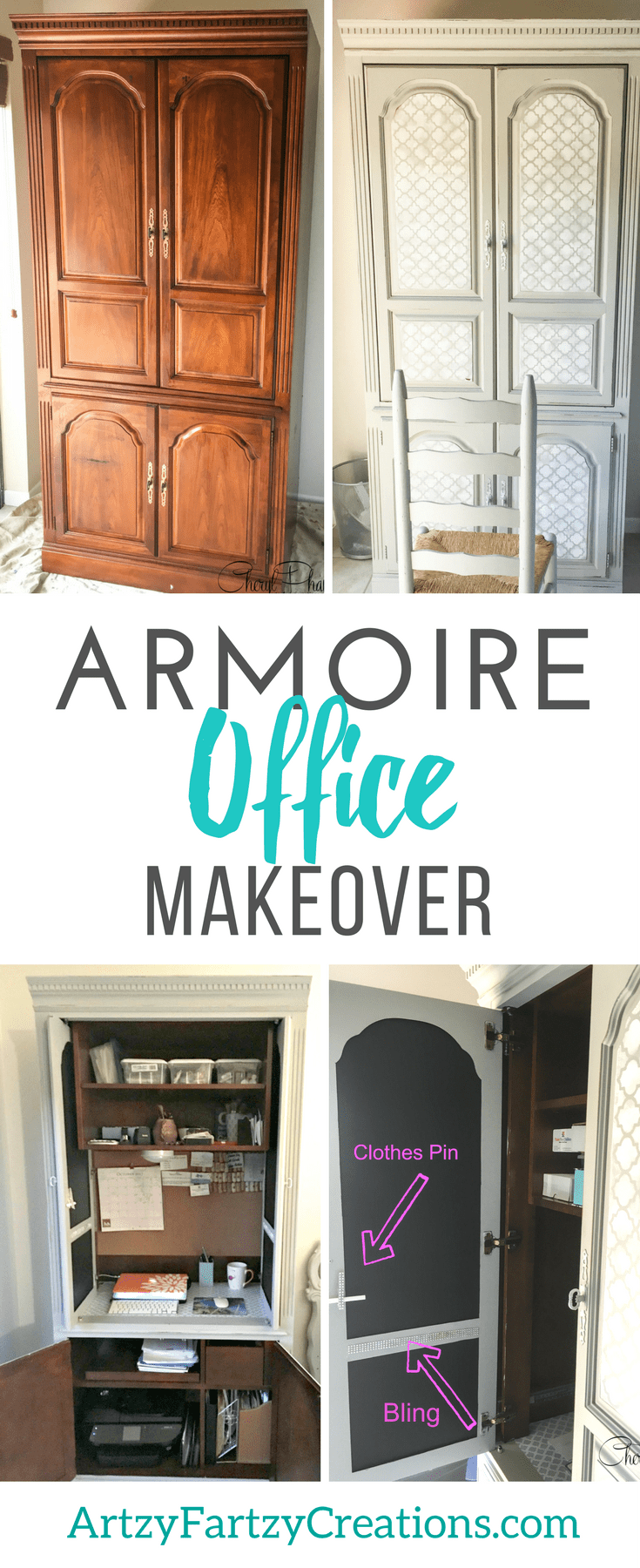 Short On Space? Make An Armoire Office Space  Cheryl Phan