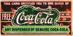Early Coca-Cola coupon