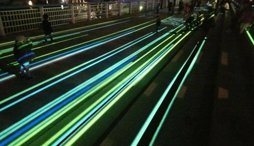 夜のマリホ「プロジェクションマッピング」が適度に遊べる
