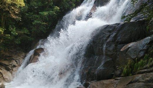 妹背の滝(廿日市市)大迫力だけど遊びやすい!神社の奥にある神秘的な滝でした
