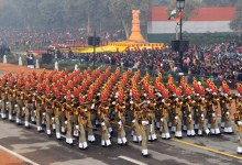 Photo of BSF's Marching Contingents, the best among Para-military Contingents