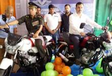 "Photo of Bike ""V"" made from Vikrant metal, launched in Guwahati"